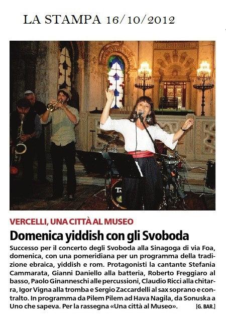 La stampa Vercelli 16:10:2012