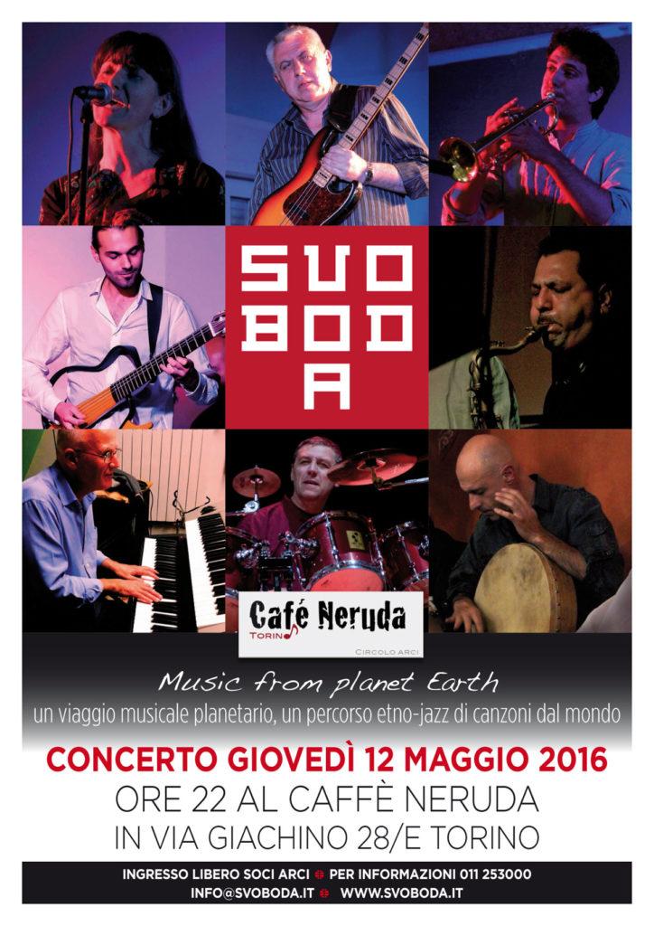 Svoboda in concerto giovedì 12 maggio alle 22 al Caffè Neruda a Torino.